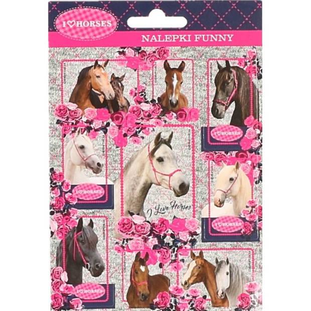 Paarden stickers 10 stuks set 4