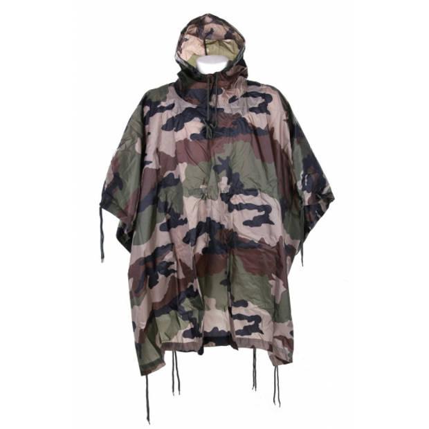 Luxe camouflage regenponcho