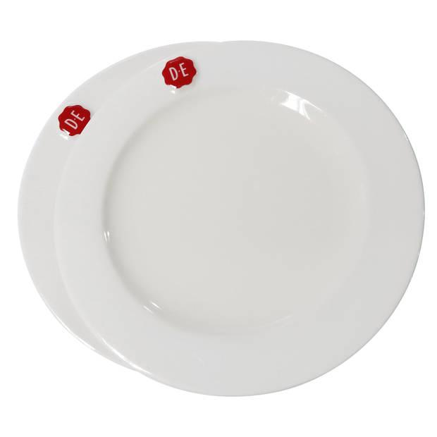 Douwe Egberts gebaksbordje - ø 17 cm - wit