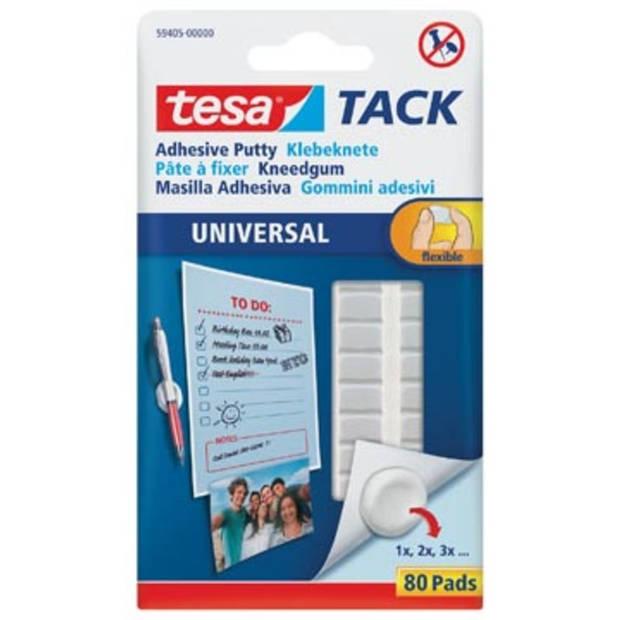 Tesa TACK Kneedgum, blister met 80 pads