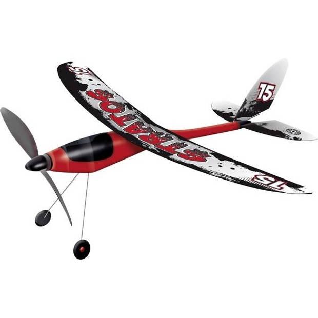 Günther vliegtuig Stratos 53 x 50 cm rood/zwart