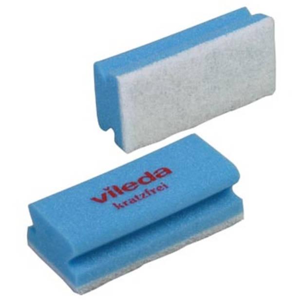Vileda spons Glitzi Quattro, blauw, pak van 10 stuks