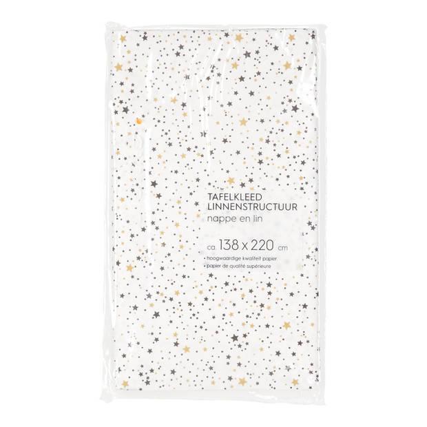 Blokker tafelkleed Papier Sterretjes - 138x220 cm