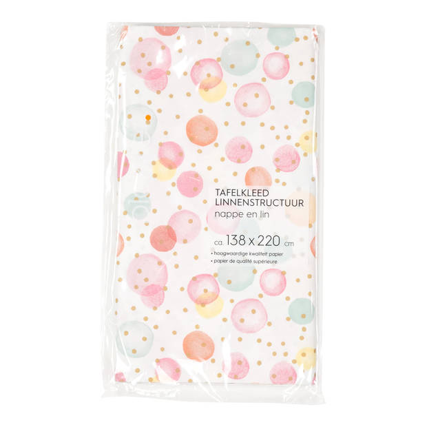 Blokkertafelkleed Papier Confetti - 138x220 cm