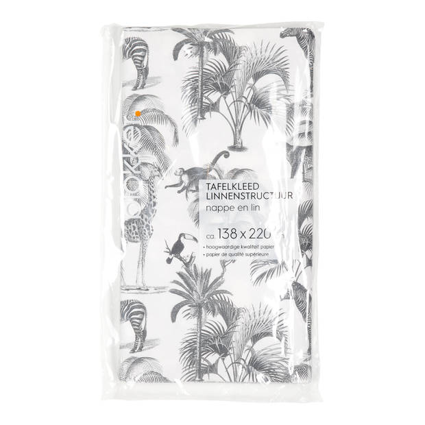 Blokker tafelkleed Papier Jungle - 138x220 cm