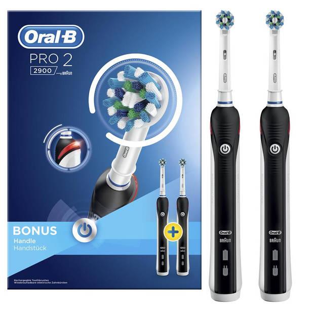 Oral-B elektrische tandenborstel Cross Action Pro 2 2900 Black Duopack – 2 stuks