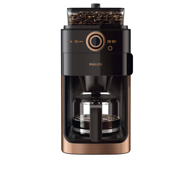 Philips koffiezetapparaat/bonenmachine Grind & Brew HD7768/70 - koper/metaal