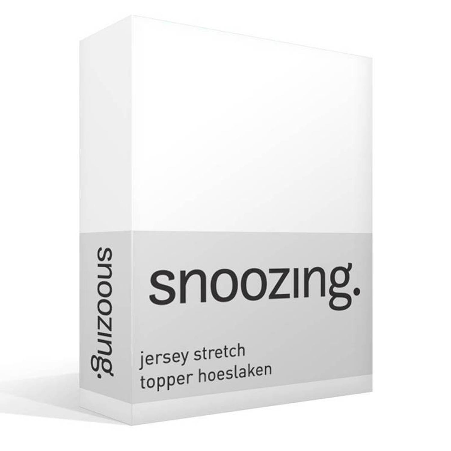 Snoozing jersey stretch topper hoeslaken - 1-persoons (70/80x200/220 cm)
