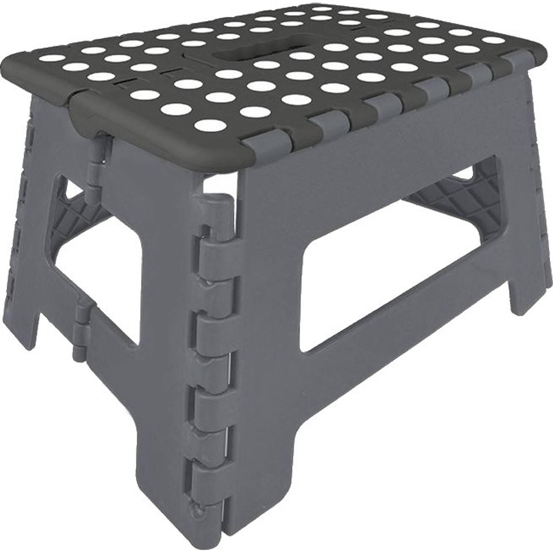 Korting Proplus Inklapbaar Opstapje Zwart grijs 29 X 21,5 X 22 Cm