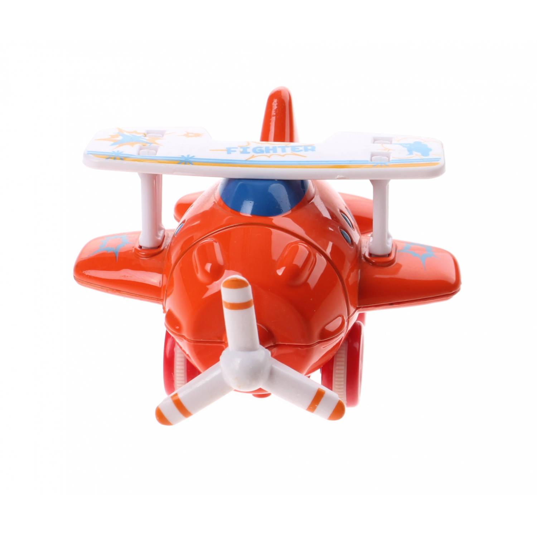 Kids Fun mini vliegtuig rood 10 cm