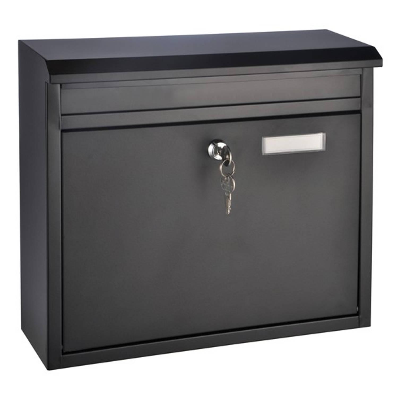 Haushalt brievenbus van zwart meteel