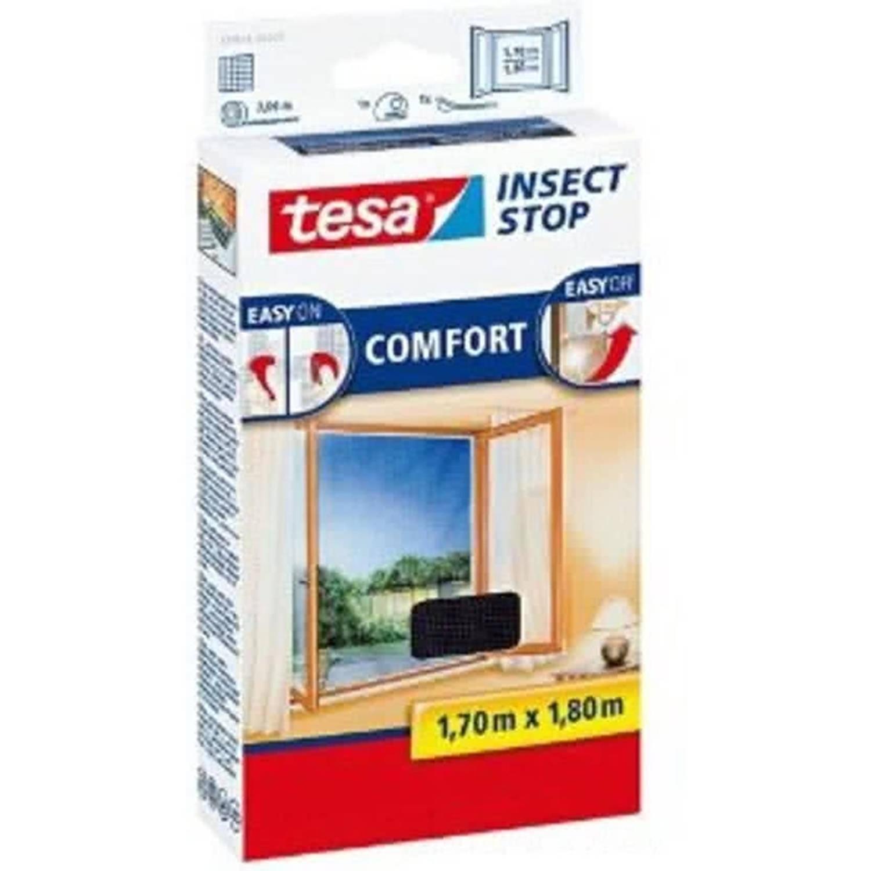 Tesa flyscreen COMFORT voor ramen, 1,70 m x 1,80 m antraciet