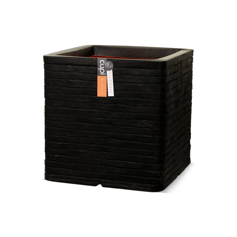 Pot Vierkant Row Nl 40x40x4 - Zwart