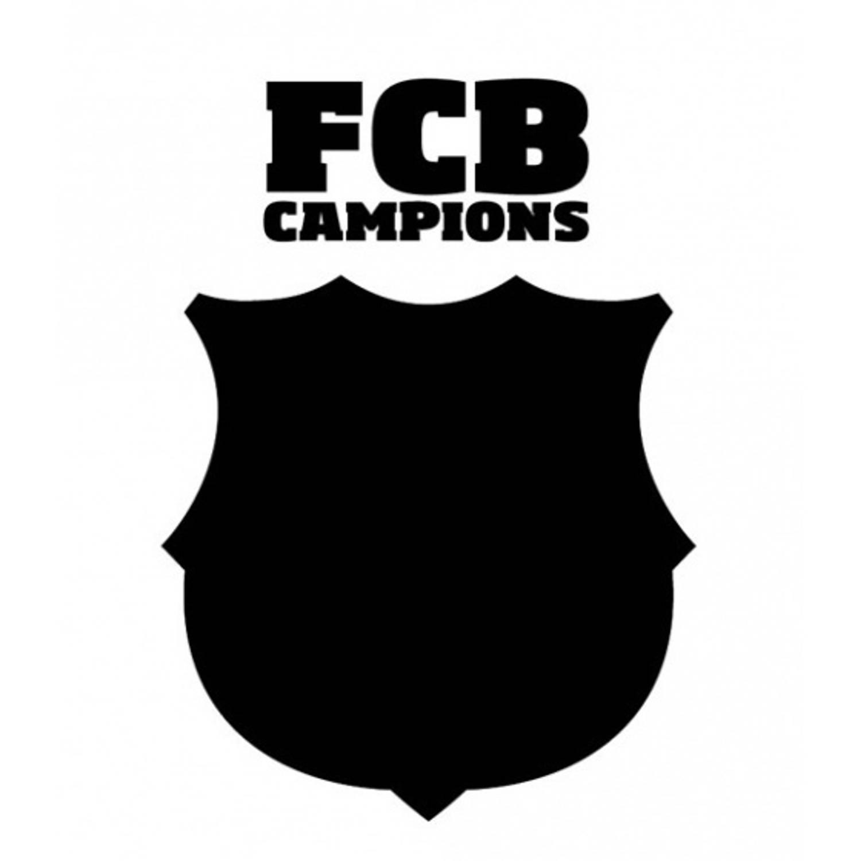 FC Barcelona krijtbord muursticker logo 50 x 70 cm
