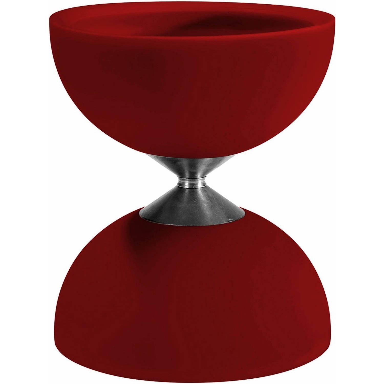 Afbeelding van Acrobat diabolo 105 rubber 12 x 10,5 cm rood