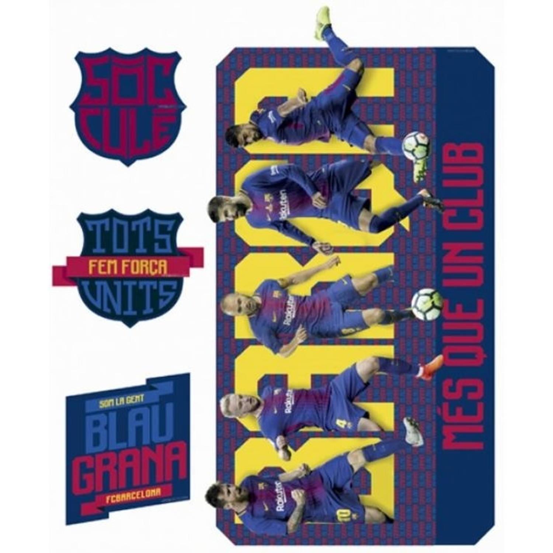 FC Barcelona muursticker 4 stuks