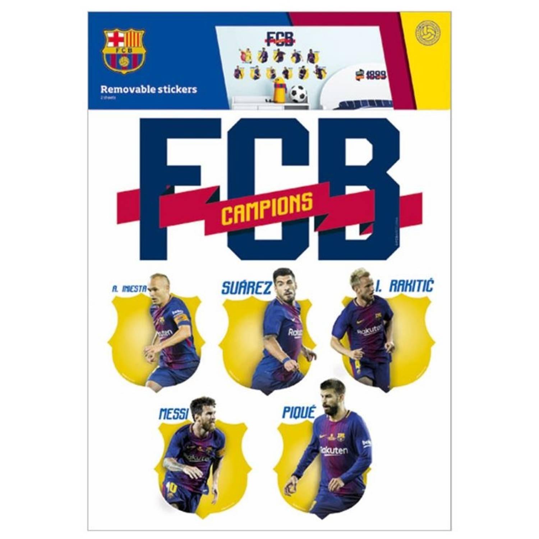 FC Barcelona muurstickers 14 stuks