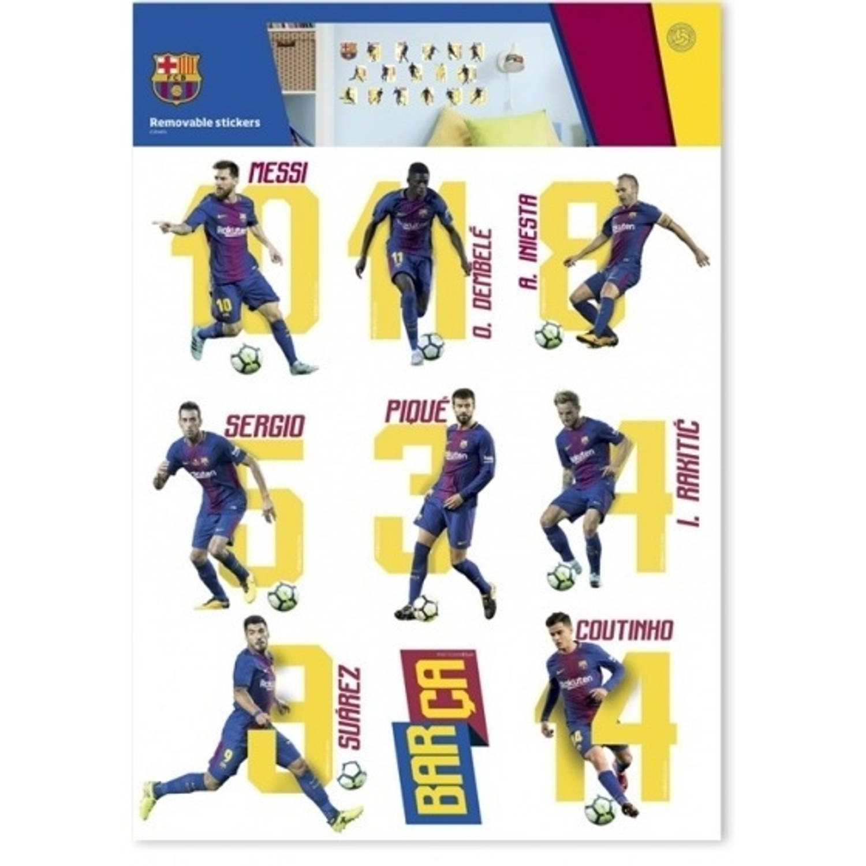 FC Barcelona muursticker 18 stuks