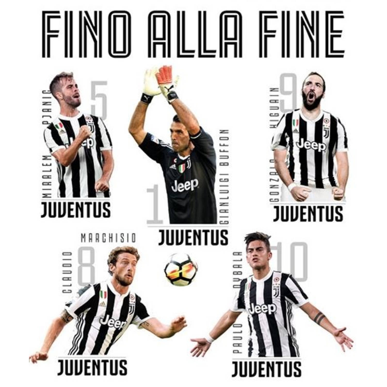 Juventus muursticker 11 spelers 2 stickervellen