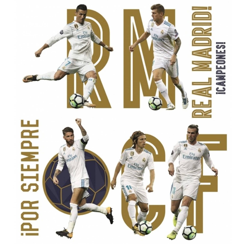 Real Madrid muursticker Group 8 stuks
