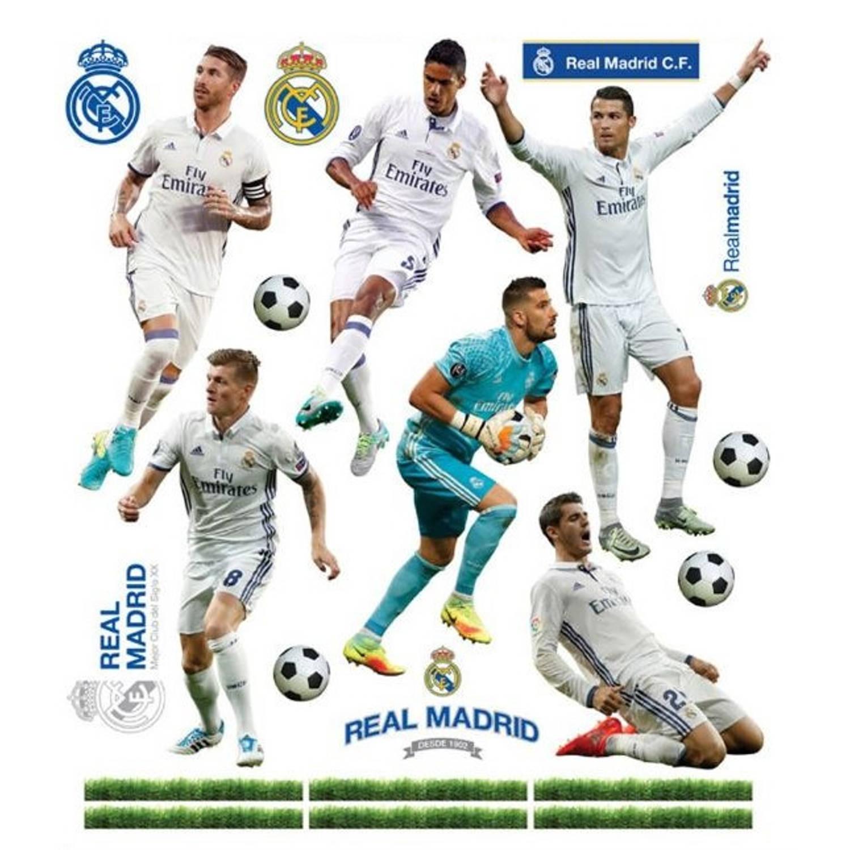 Real Madrid muursticker 11 spelers 2 stickervellen