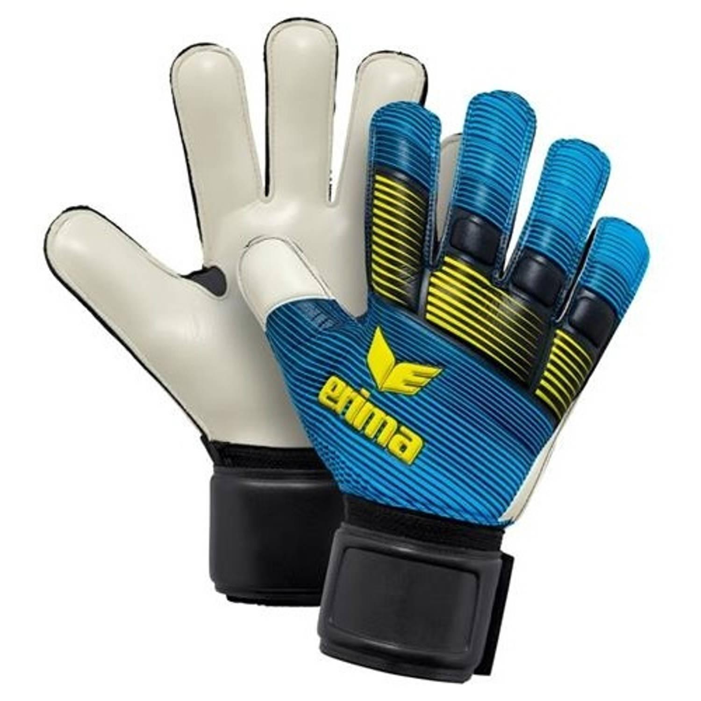 Erima keepershandschoenen Skinator Protect blauw maat 4.5