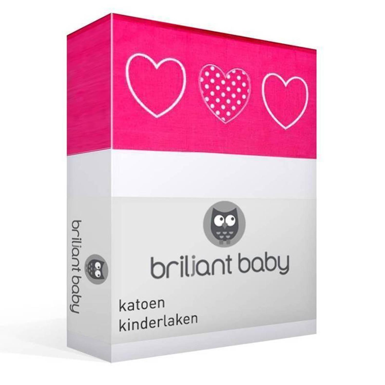 Briljant Baby Belle katoen kinderlaken - 100% katoen - Ledikant (100x150 cm) - Roze