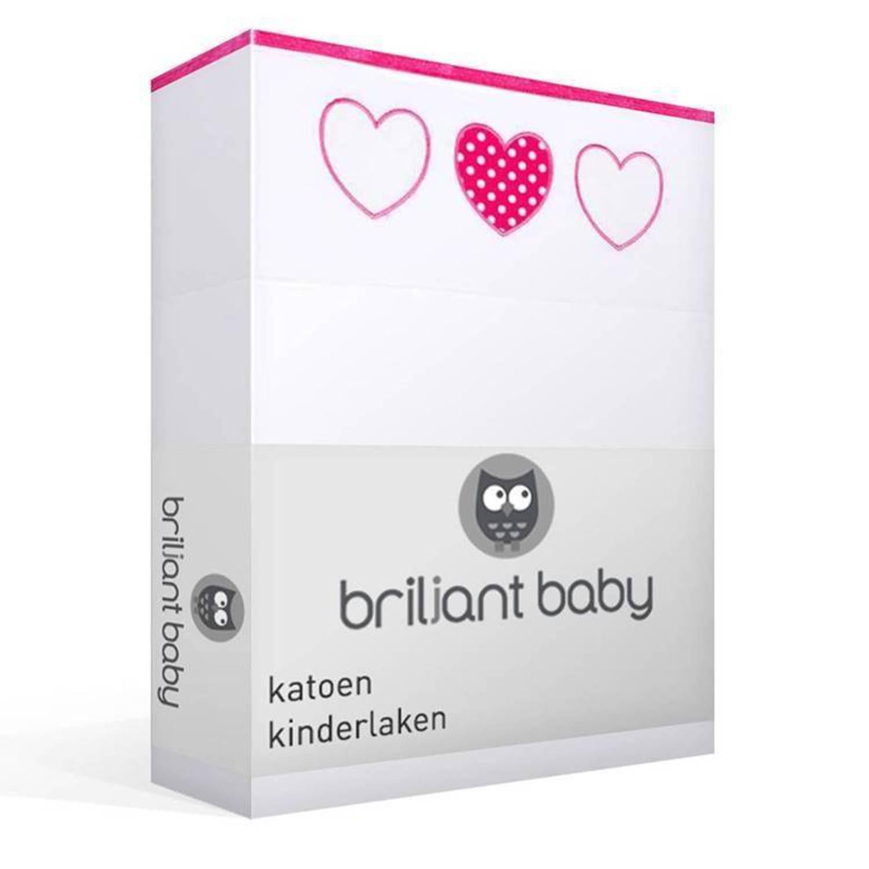 Korting Briljant Baby Becky Katoen Kinderlaken 100 procent Katoen Wiegje (75x100 Cm) Wit