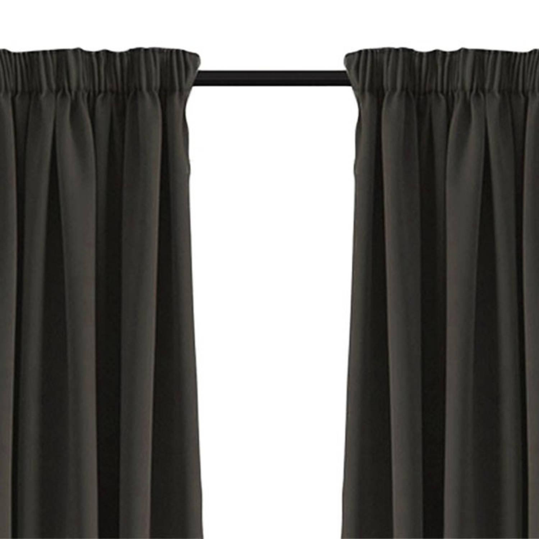 larson luxe verduisterend gordijn met haken 300x250 cm dark grey