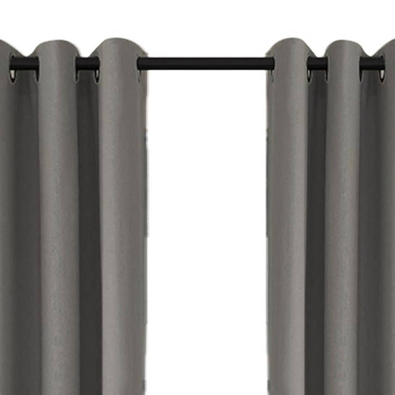Larson - Luxe verduisterend gordijn met ringen- 150x250 cm - Grey ...