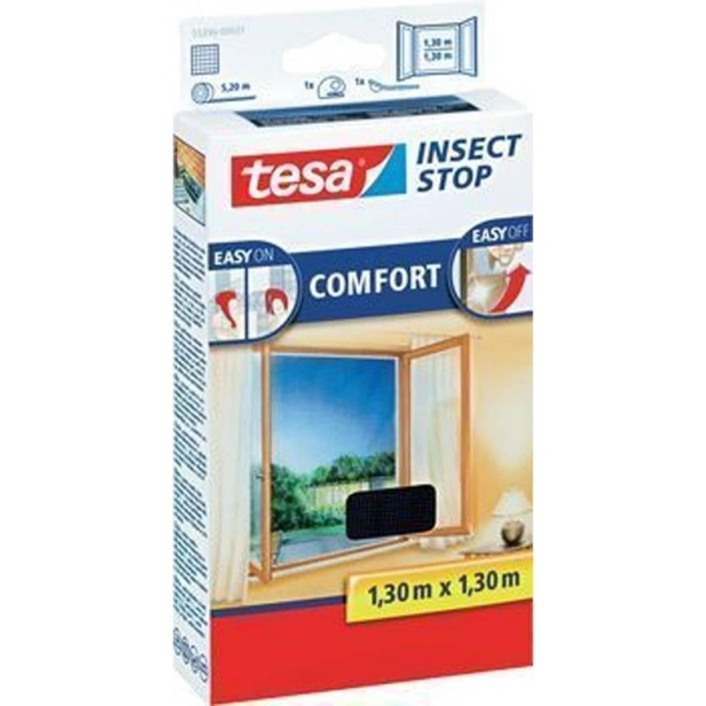 Tesa vliegenraam'Comfort' zwart 1,30 x 1,30 m