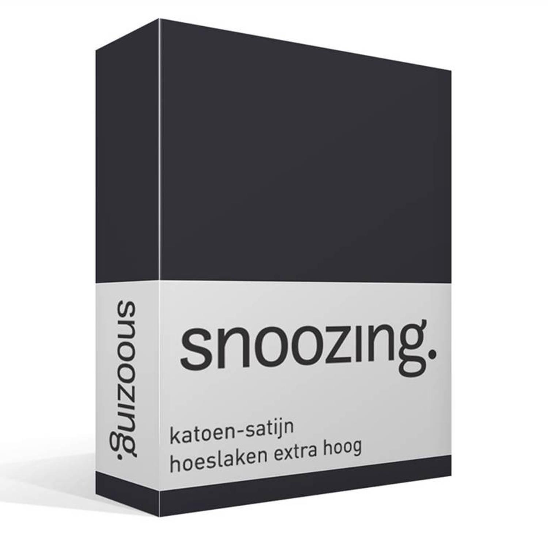 Snoozing katoen-satijn hoeslaken extra hoog - 2-persoons (140x220 cm)
