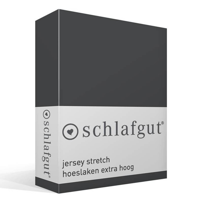 Schlafgut Unisex Jersey-hoeslaken van SCHLAFGUT grijs ca. 100-220 cm,ca. 160-220 cm,ca. 200-220 cm