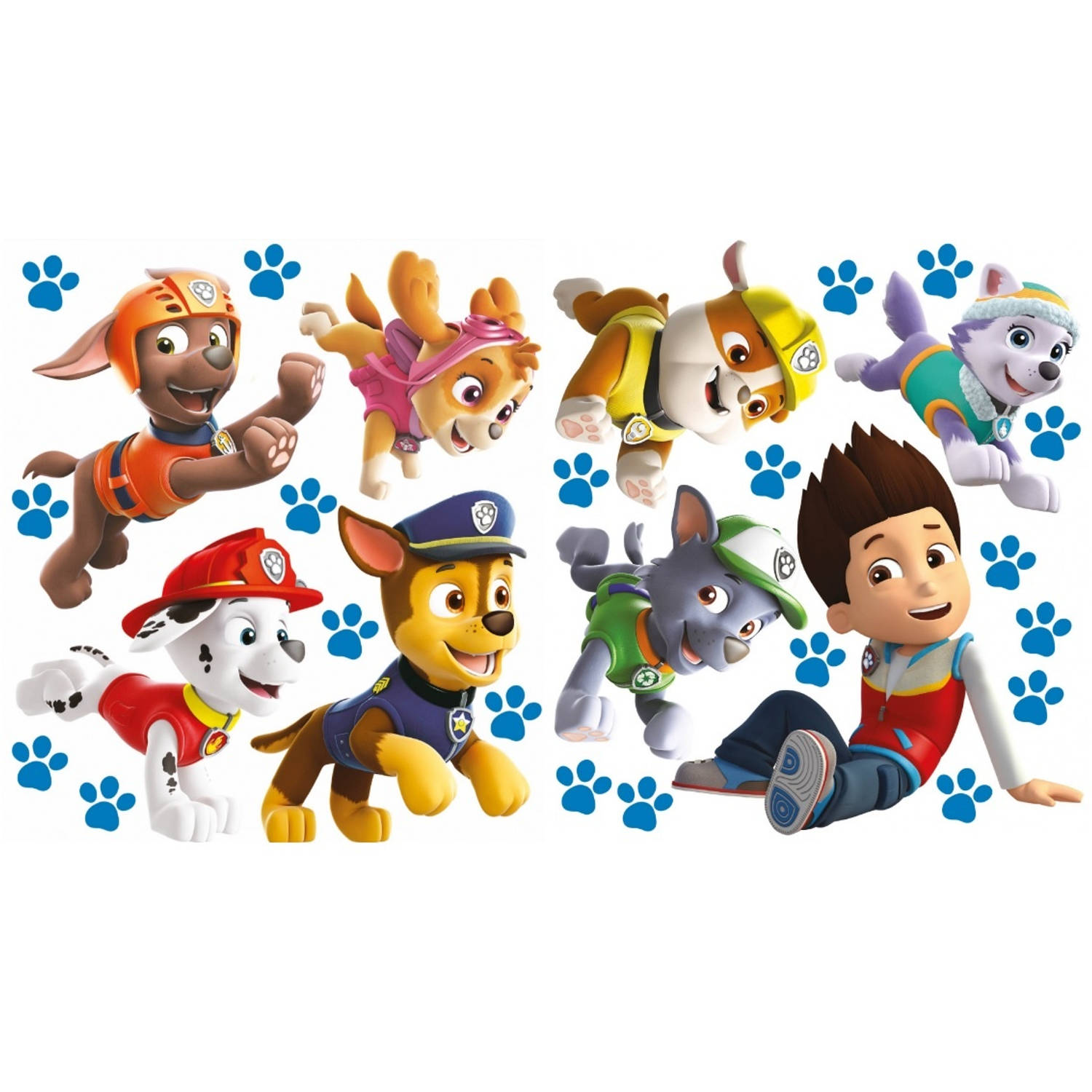 muursticker Paw Patrol run 2 stickervellen