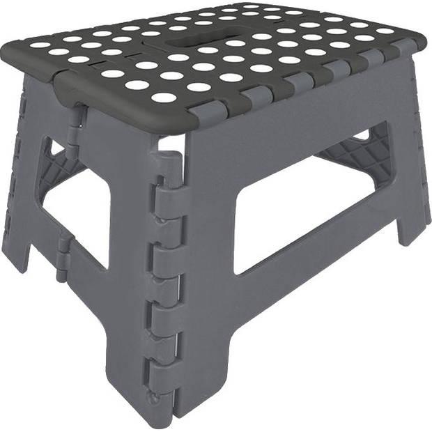 ProPlus inklapbaar opstapje zwart/grijs 29 x 21,5 x 22 cm