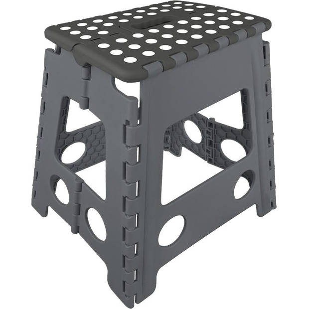 ProPlus opvouwbaar opstapje zwart/grijs 29 x 21,5 x 39,5 cm