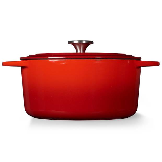 Blokker Excellent braadpan - Ø 24 cm - rood