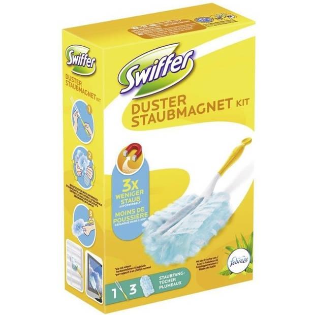 Swiffer Duster Stofdoekjes - Starterkit + 3 navullingen Febreze