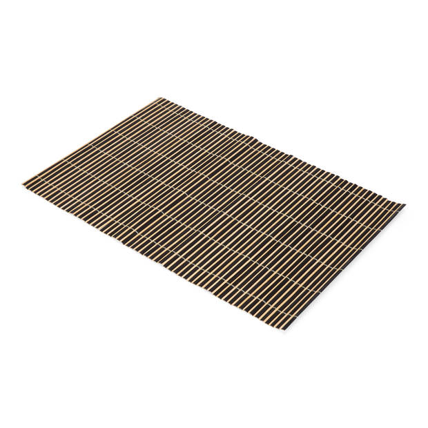 Blokker Bamboe Placemats S/2 Zwart 45x30