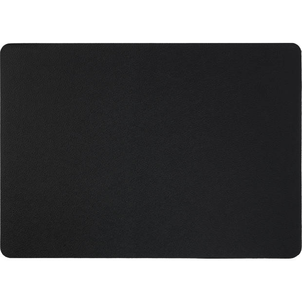 Blokker Placemat Zwart Lederlook 32x45cm