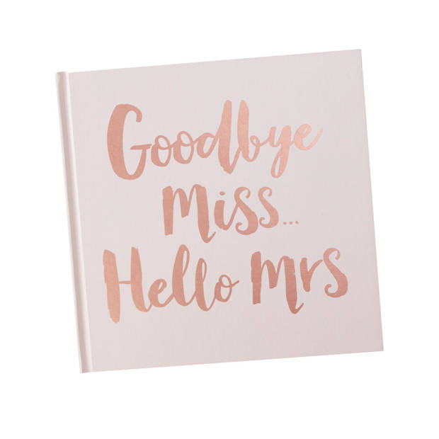 Advies boek - Goodbye Miss Hello Mrs
