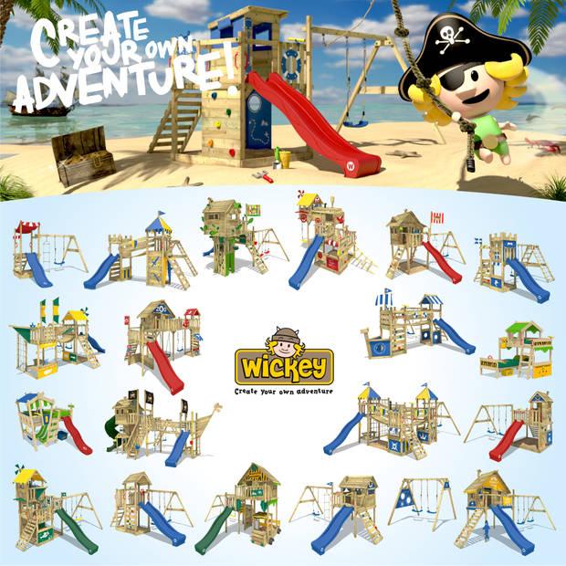 WICKEY Klimtoren voor tuin Smart Action Houten speeltuig, Speeltoestel, klimrek met klimwand voor kinderen