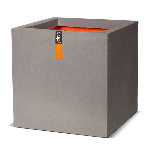 Bloempot Pot vierkant IV 50x50x50 grijs Capi Europe