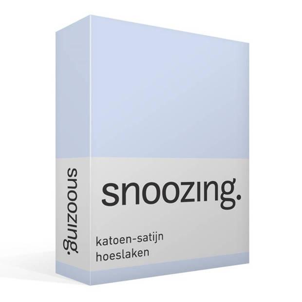 Snoozing - Katoen-satijn - Hoeslaken - 120x220 - Hemel