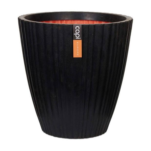Vaas taps rond tube NL 40x40 zwart
