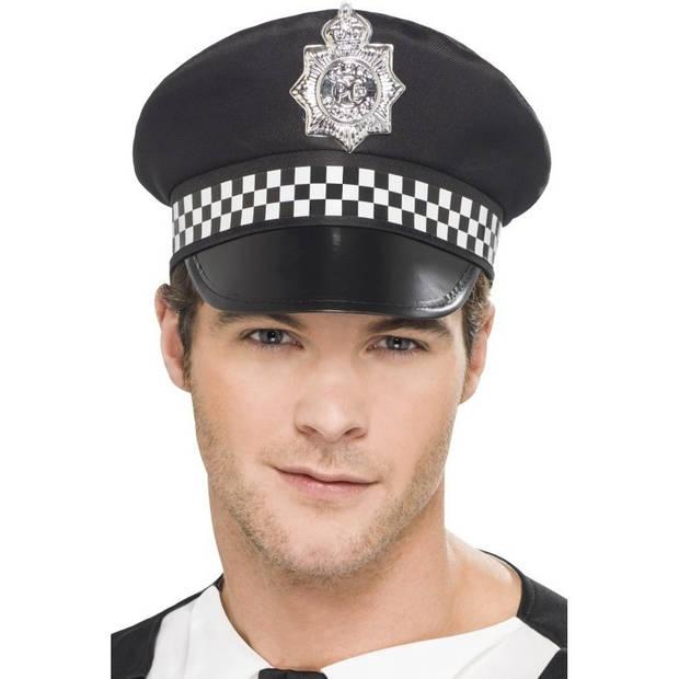 Verkleed accessoires zwarte agent/politie pet voor volwassenen