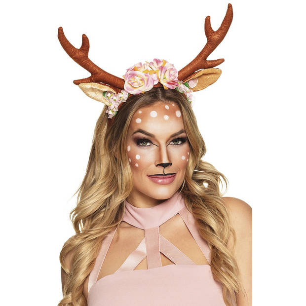 Boland tiara Lovely Reindeer dames bruin one size
