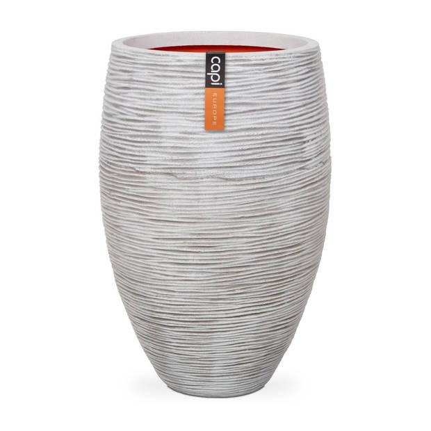 Vaas elegant deluxe rib NL 39x60 - ivoor