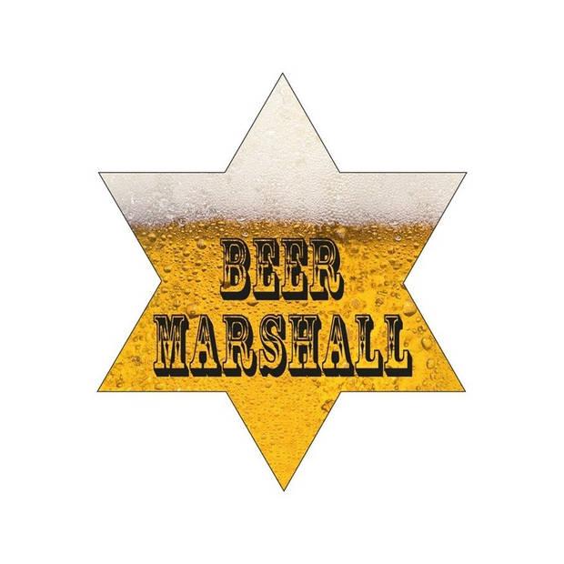 Oktoberfest Sherrif ster bier Marshall met led lampjes 8 cm