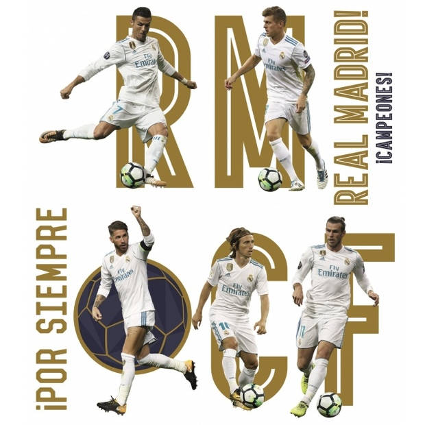 Real Madrid muursticker Top Players 2 stickervellen